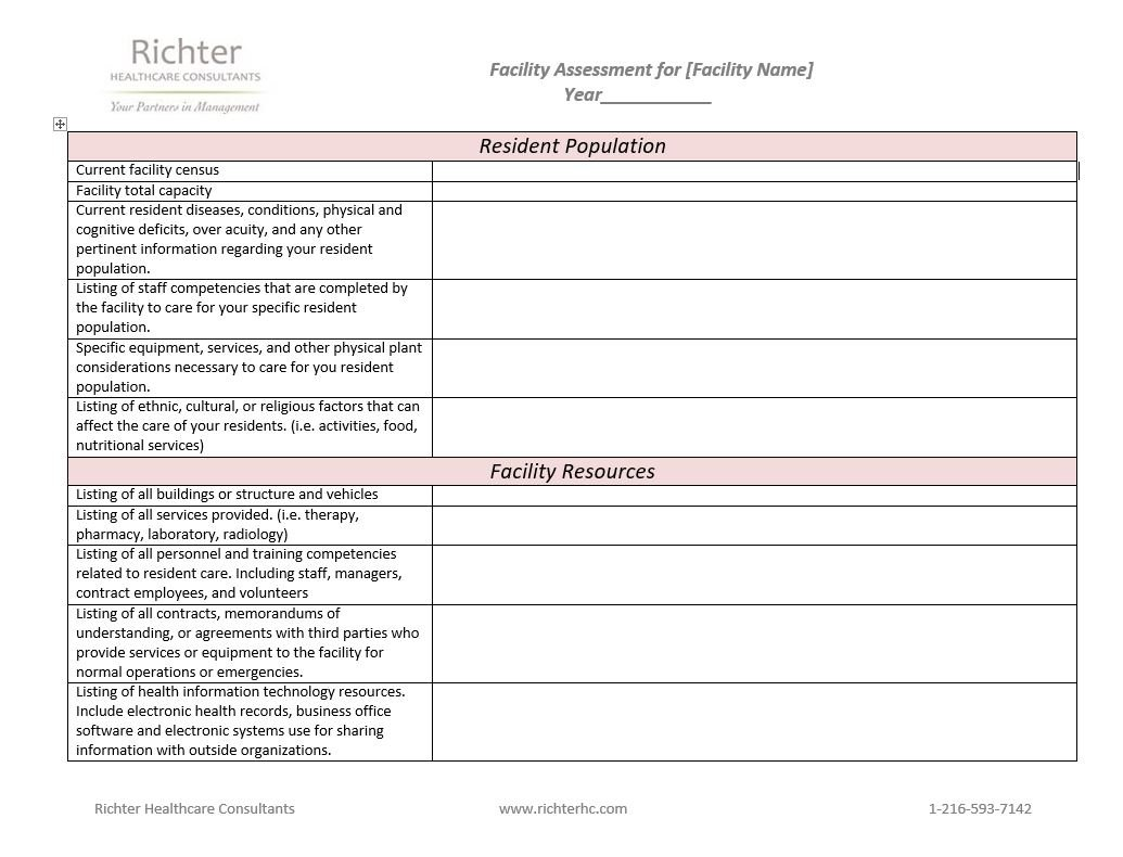 Facility Assessment Tool